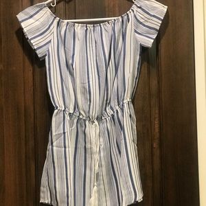 Size small blue/white striped romper from ZAFUL